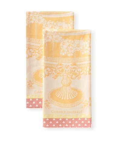 Garnier-Thiebaut Set of 2 Ceremonie Kitchen Towels, Mandarine
