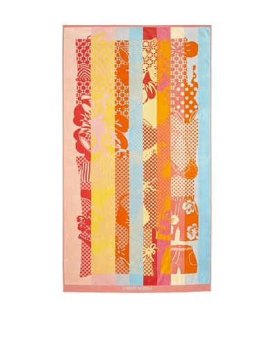 Garnier-Thiebaut Splash Beach Towel [Coral]