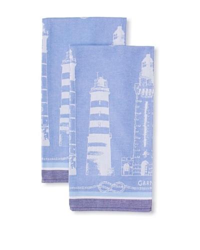 Garnier Thiebaut Set of 2 Phares Et Balises Nautique Kitchen Towels