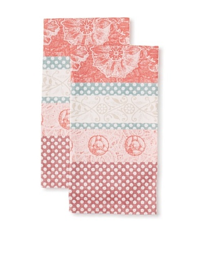 Garnier-Thiebaut Set of 2 Stuc Kitchen Towels, Figue