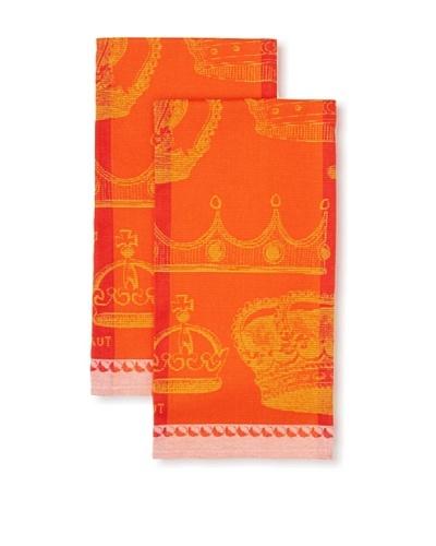 Garnier Thiebaut Set of 2 Rois Et Reines Ecarlate Kitchen Towels