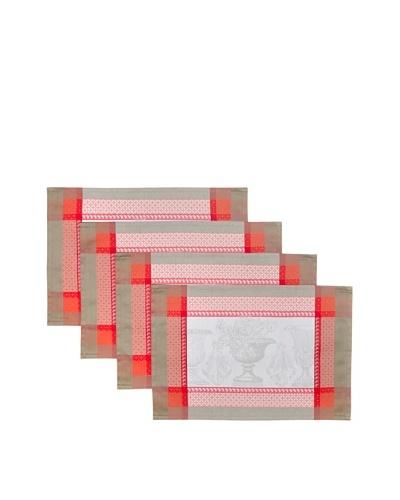 Garnier-Thiebaut Set of 4 Flanerie Placemats, Corail