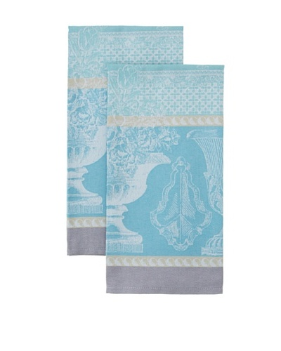 Garnier Thiebaut Set of 2 Vase De Jardin Aqua Kitchen Towels