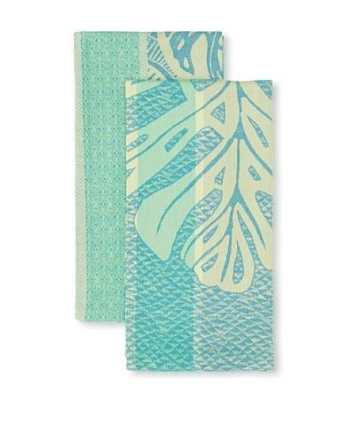 Garnier Thiebaut Set of 2 Palmier & Palme Avocado Tea Towels