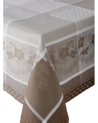 Garnier-Thiebaut Roses Anciennes Tablecloth [Ficelle]