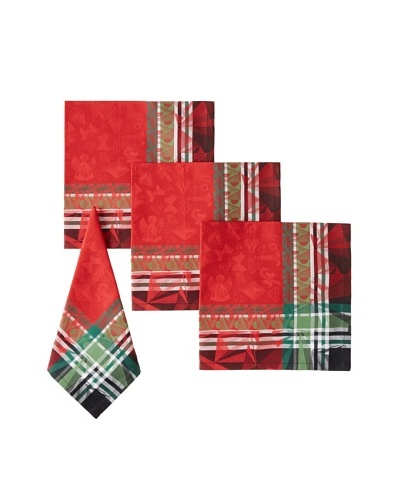 Garnier-Thiebaut Set of 4 Christmas Light Napkins, Rubis, 22 x 22