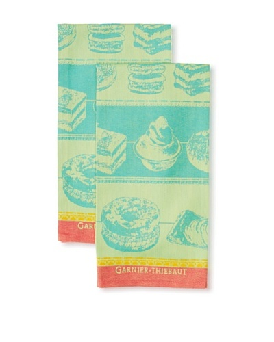 Garnier-Thiebaut Set of 2 Patisserie Kitchen Towels, Tutti Frutti
