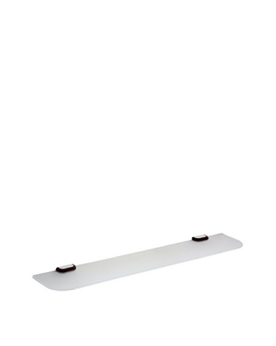 Gedy by Nameek's Odos Collection Shelf, White/Polished Chrome/Wenge, 24