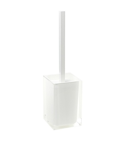 Gedy by Nameek's Modern Square Toilet Brush Holder, White