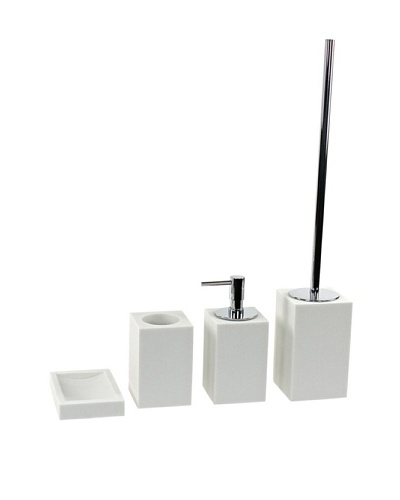 Gedy by Nameeks Oleandro Bathroom Accessory Set of 4, White