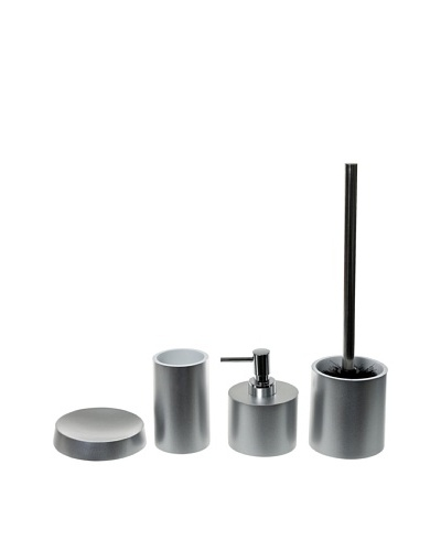 Gedy by Nameeks Piccollo Bathroom Accessory Set, Silver
