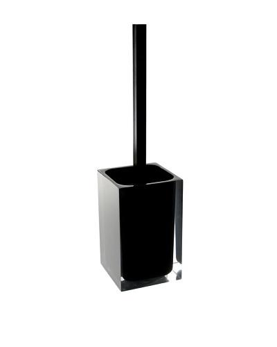 Gedy by Nameek's Modern Square Toilet Brush Holder, Black