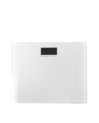 Gedy by Nameek's Square Electronic Bathroom Scale, White