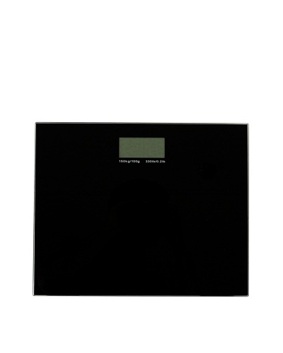 Gedy by Nameek's Square Electronic Bathroom Scale, Black