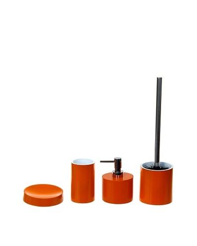 Gedy by Nameeks Piccollo Bathroom Accessory Set, Orange