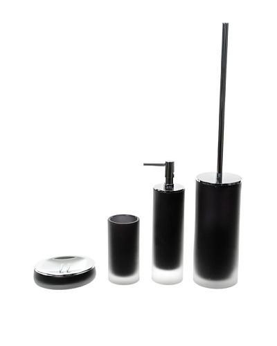 Gedy by Nameeks Baltic Bathroom Accessory Set, Black