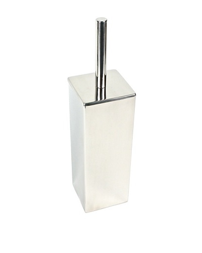 Gedy by Nameek's Square Polished Chrome Toilet Brush Holder