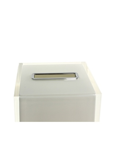 Gedy by Nameek's Thermoplastic Resin Square Tissue Box Cover, White
