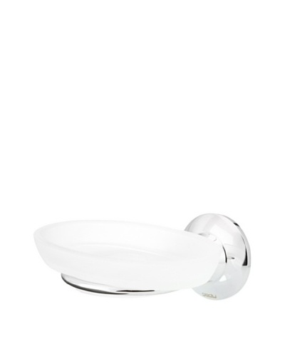 Gedy by Nameek's Ascot Collection Wall-Mountable Soap Dish, White/Polished Chrome