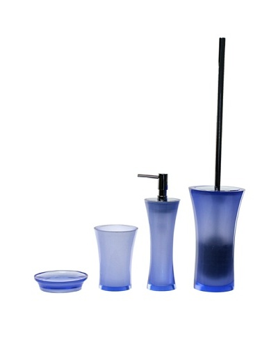 Gedy by Nameeks Flaca Bathroom Accessory Set, Blue