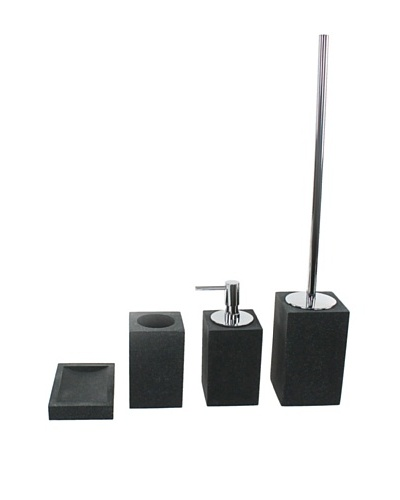 Gedy by Nameeks Oleandro Bathroom Accessory Set, Black