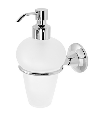 Gedy by Nameek's Ascot Collection Wall-Mountable Soap Dispenser, White/Polished Chrome