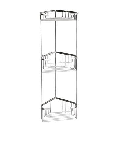 Gedy by Nameek's Wire Corner Double Shower Basket