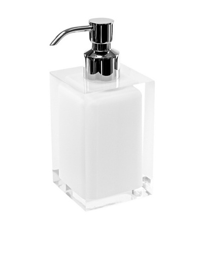 Gedy by Nameek's Square Countertop Soap Dispenser, White
