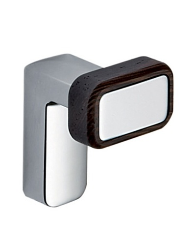Gedy by Nameek's Odos Collection Wall-Mountable Hook, Polished Chrome/Wenge