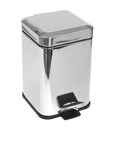Gedy by Nameek's Square Chrome Waste Bin with Pedal
