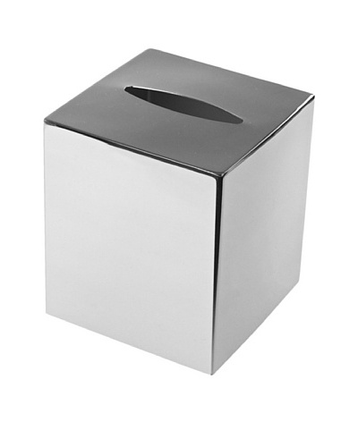 Gedy by Nameek's Modern Square Polished Chrome Tissue Box Cover