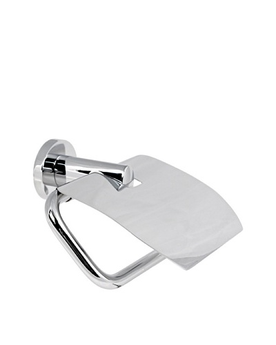 Gedy by Nameek's Demetra Collection Wall-Mountable Toilet Paper Holder with Cover, Polished Chrome