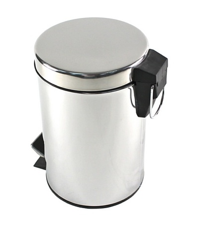 Gedy by Nameek's Round Polished Chrome Waste Bin with Pedal