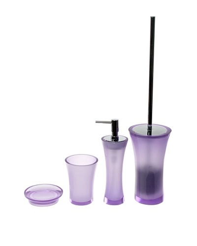 Gedy by Nameeks Flaca Bathroom Accessory Set, Purple