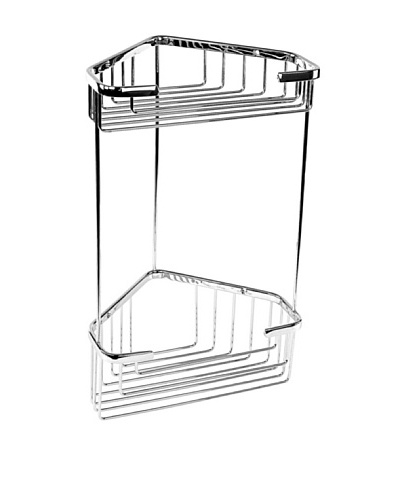 Gedy by Nameek's Wire Corner Triple Shower Basket
