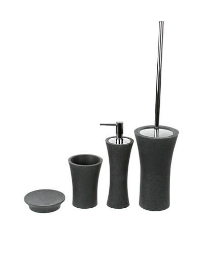Gedy by Nameeks Flaca Bathroom Accessory Set, Black