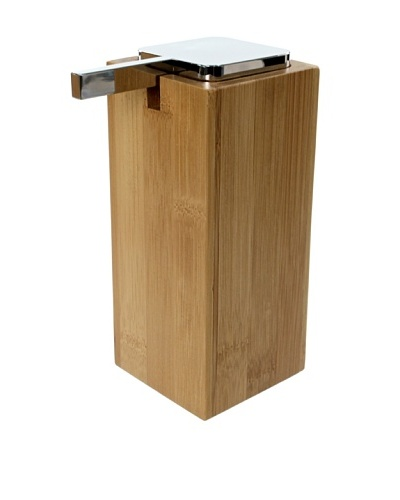 Gedy by Nameek's Large Soap Dispenser with Chrome Pump, Bambu