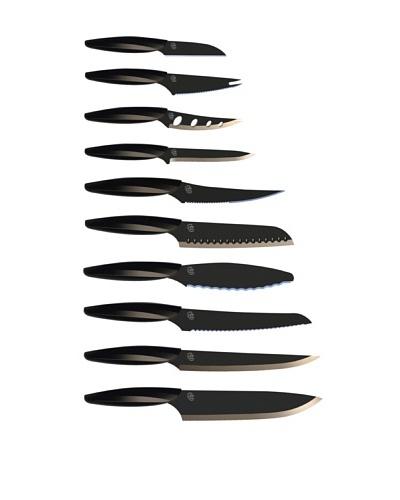 Gela Global 10-Piece Knife Set [Black]
