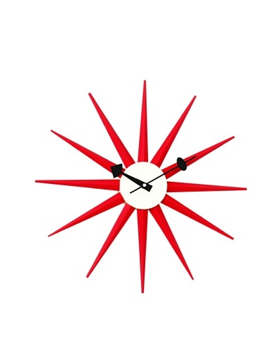 George Nelson Classic Wooden Sunburst Clock
