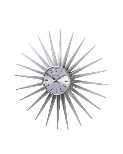 George Nelson Sunburst Clock, Silver