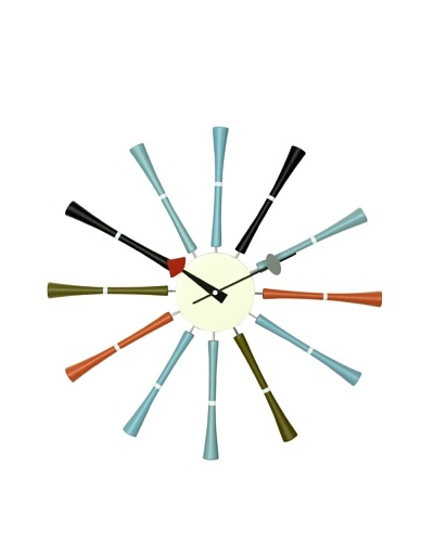 George Nelson Multicolor Spindle  Clock