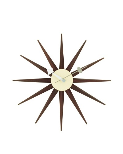 George Nelson Classic Wooden Sunburst Clock [Walnut]