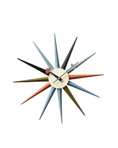 George Nelson Classic Wooden Sunburst Clock [Multi]