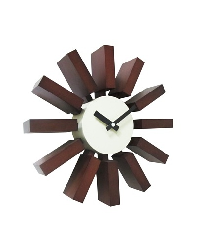 George Nelson Block Clock, Walnut