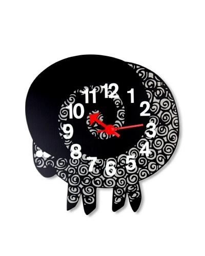 George Nelson Zoo Timer Ram Wall Clock, Black