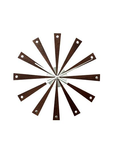 George Nelson Romer Clock, Walnut/Silver