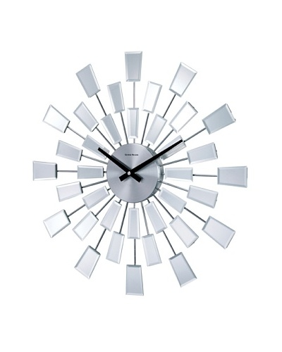 George Nelson Beveled Pixel Clock, SilverAs You See