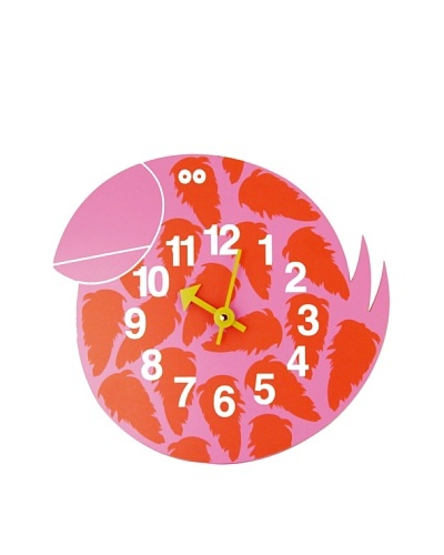 George Nelson Zoo Timer Toucan Wall Clock, Pink