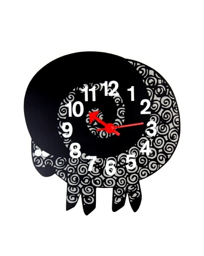 George Nelson Zoo Timer Ram Wall Clock, BlackAs You See