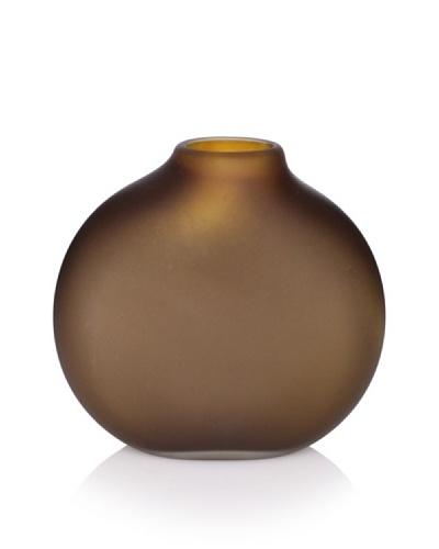 5.75 Flat Vase, Amber